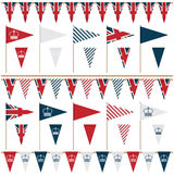 Uk party flags Stock Photography