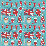Uk party pattern Royalty Free Stock Images