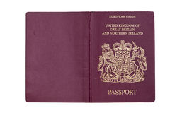 UK Passport with clipping path Stock Photo