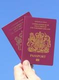 UK Passport. United Kingdom of Great Britain and Northern Ireland European Union Biometric Passport Royalty Free Stock Photography