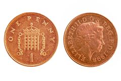 UK penny - both sides Royalty Free Stock Photo