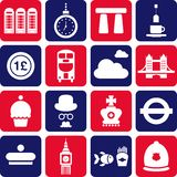 UK pictograms Royalty Free Stock Photography
