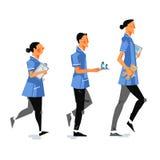 UK pielęgniarki ilustracyjne Zdjęcia Royalty Free
