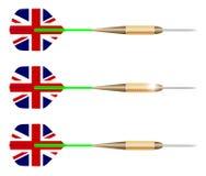 UK-pilar som isoleras på vit stock illustrationer