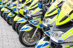 UK Police motorcycles Stock Photo