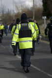 Uk Police Officer. S at the scene of a public disturbance Stock Photos