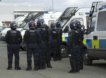 Uk Police Officers in Riot Gear Royalty Free Stock Images