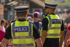 UK police officers royalty free stock photo
