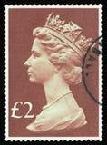 UK-portostämpel Arkivbilder