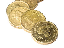 UK pound coins Stock Images