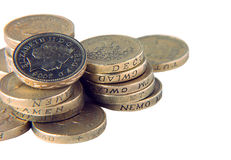 UK pound coins Royalty Free Stock Photography