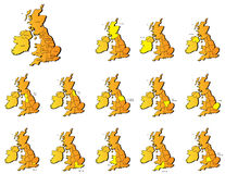 Uk provinces maps Stock Photos