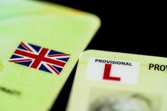 UK Prowizoryczna Napędowa koncesja zdjęcie stock