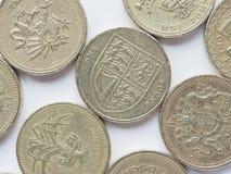 UK 1 pund mynt Royaltyfri Foto