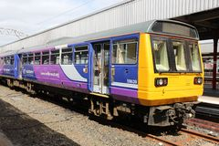 UK railway. STOCKPORT, UK - APRIL 23, 2013: Northern Rail train in Stockport, UK. NR is part of Serco-Abellio joint venture. NR has fleet of 313 trains and calls Royalty Free Stock Photos