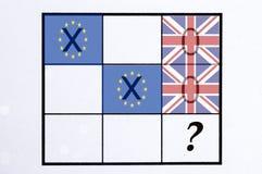 UK referendum pojęcie obrazy stock