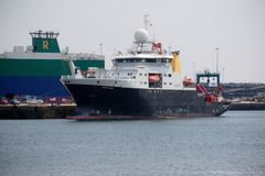 UK Research Ship RSS James Cook Royalty Free Stock Photo