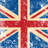 UK retro flag. United Kingdom vintage flag - grunge style Royalty Free Stock Photography