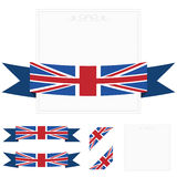 Uk ribbons Royalty Free Stock Photo