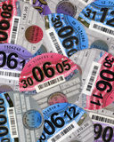 UK road tax discs Royalty Free Stock Photography
