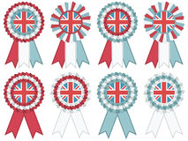 Uk rosettes Stock Image