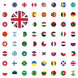 UK round flag icon. Round World Flags Vector illustration Icons Set. UK round flag icon. Round World Flags Vector illustration Icons Set Stock Photos