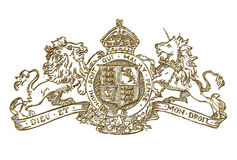 UK Royal Coat of Arms Symbol Royalty Free Stock Image