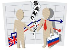 UK sanctions against Russia Royalty Free Stock Photo