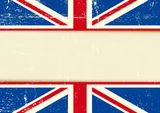UK scratched horizontal background Royalty Free Stock Photos