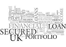 Are Uk Secured Loans A Part Of Your Financial Portfolio Word Cloud. ARE UK SECURED LOANS A PART OF YOUR FINANCIAL PORTFOLIO TEXT WORD CLOUD CONCEPT Royalty Free Stock Image