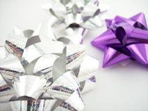 ukłon serii fioletowy srebra Zdjęcie Stock