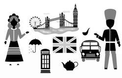 The UK set black Stock Images