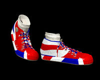 UK Shoes 3. A pair of shoes with the Union Jack flag on them, its the flag of Great Britain Royalty Free Stock Image