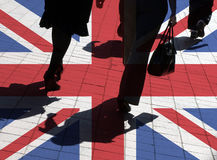UK shoppers Stock Images
