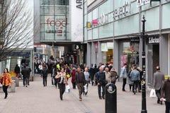 UK-shopping Arkivbild