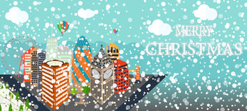 UK, Silhouette Christmas and New Year London city background. Ve Stock Photos