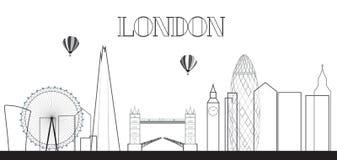 UK, Silhouette London city background. Vector Illustration. Stock Photo