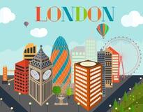 UK, Silhouette London city background. Vector Illustration. Stock Photography