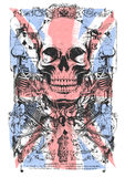 UK skull. Vector illustration ideal for printing on apparel clothes Stock Photography