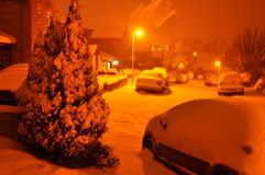 UK Snowfaall Royalty Free Stock Photo
