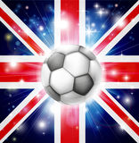 UK soccer flag Stock Image
