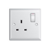 UK socket Stock Photography