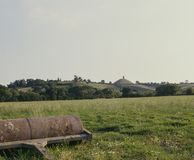UK, Somerset, Glastonbury Tor. Countryside view towards Glastonbury Tor in Somerset, England, UK, Europe stock image