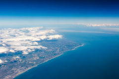 UK south cost cliffs view from top on Eastbourne, Brighton, Engl Stock Photography