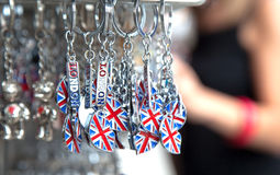 UK souvenir for tourists. Typical souvenir with the union jack for tourists of London Stock Images