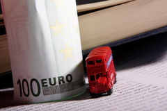 UK souvenirs and eurobanknote Stock Photos