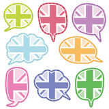 Uk speech bubbles Royalty Free Stock Photos