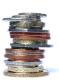 UK stack of mixed coins Royalty Free Stock Image