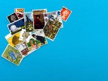UK stamp assortment, philately background Royalty Free Stock Photography