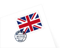 UK stamp illustration. UK stamp Letter illustration vector Stock Photography